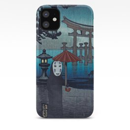 No face Kaonashi vintage japanese mashup iPhone Case