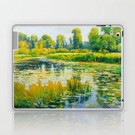 Václav Radimský (1867-1946) Water Lilies Impressionist Landscape Painting Bright Colors Oil Laptop & iPad Skin