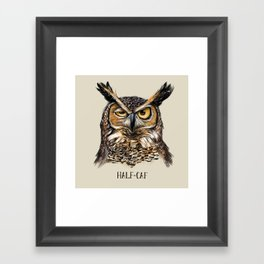 HALF-CAF Framed Art Print