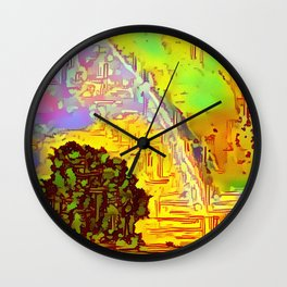Scottish Lion Rainbow Wall Clock