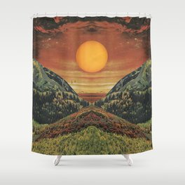 Sunset vibes Shower Curtain