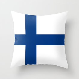 National flag of Finland Throw Pillow