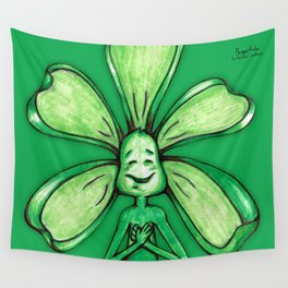 """""""Green"""" Color Chakra Flowerkid Wall Tapestry"""