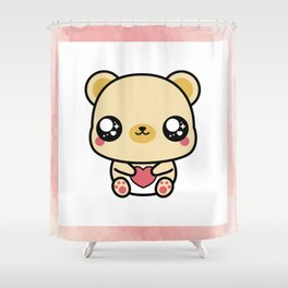 BEAR-Y LOVABLE FRAMED Shower Curtain