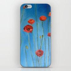 Blue Poppies iPhone & iPod Skin