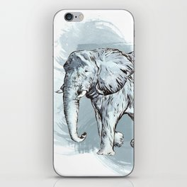Watercolor Elephant iPhone Skin