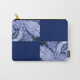 Season of the Square - Sapphire Check Carry-All Pouch