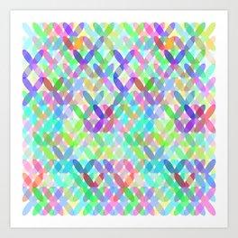 Crossing Colours Art Print