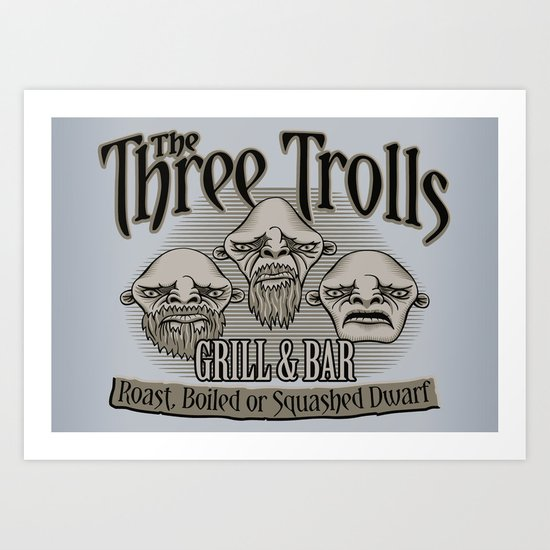 The Three Trolls Art Print