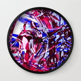Fluid Painting 2 (Red Version) Wall Clock