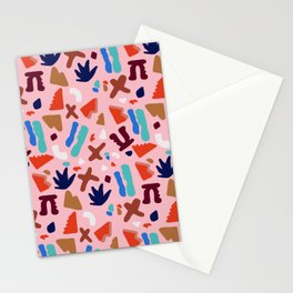Coral Seagrove Terrazzo Pattern Stationery Cards