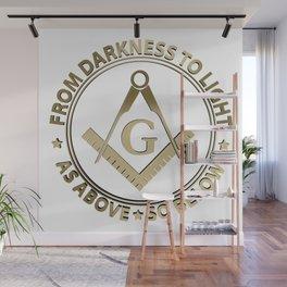 Freemasonry emblem Wall Mural
