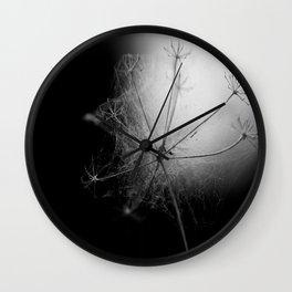 Black and White Cobweb Wall Clock