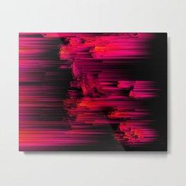 Burnout - Glitch Abstract Pixel Art Metal Print