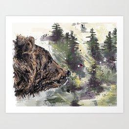Boreal Bear Art Print