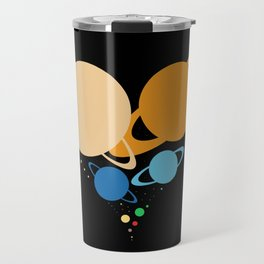 Solar System Heart (to scale) Travel Mug