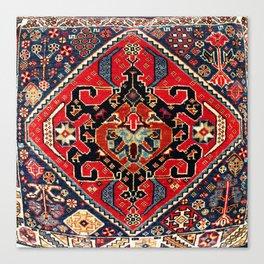 Qashqa'i Antique Fars Persian Bag Face Canvas Print