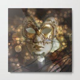 Venetian Golden Beauty Metal Print