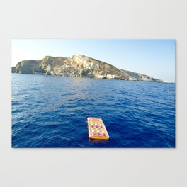 Floating on the ocean  Canvas Print