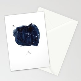 Zodiac Star Constellation - Aries Stationery Cards