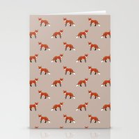 foxes Stationery Cards featuring Foxes by Abby Galloway
