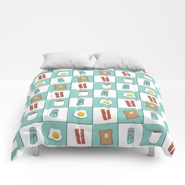 Diner Breakfast Comforters