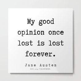 42   | Jane Austen Quotes | 190722 Metal Print