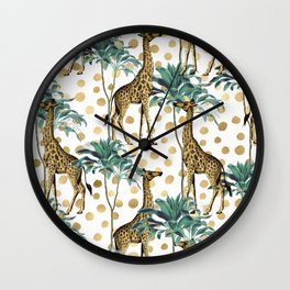 Giraffe Safari Wall Clock