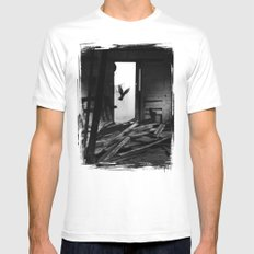 Abandoned Buildings have also Dwellers Mens Fitted Tee White MEDIUM