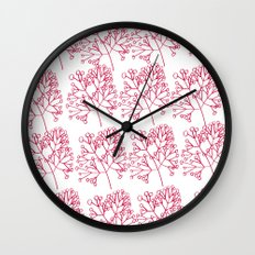 branches red graphic nordic minimal Wall Clock