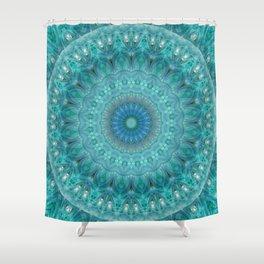 Mandala luminous Opal Shower Curtain