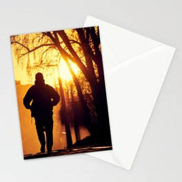 Lonely on the street Stationery Cards