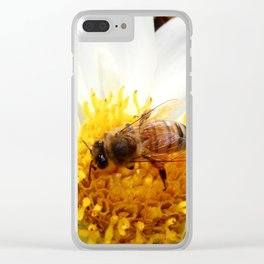 Bumble Bee on Flower Clear iPhone Case