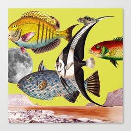 Fish World yellow Canvas Print