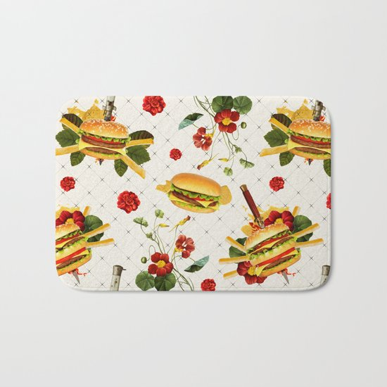 cheeseburger in gangstas paradise Bath Mat