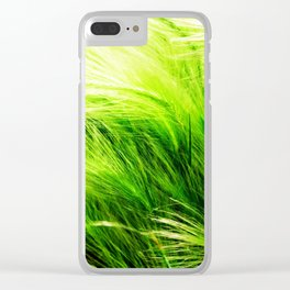 Green Swaying Grass in Summer Breeze Clear iPhone Case