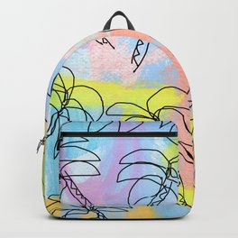 Live This Moment no.1 - illustration palm tree pattern summer tropical beach California pastel color Backpack