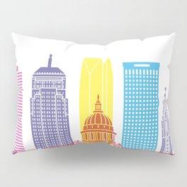 Oklahoma City V2 skyline pop Pillow Sham
