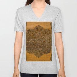 Wood Mandala Unisex V-Neck