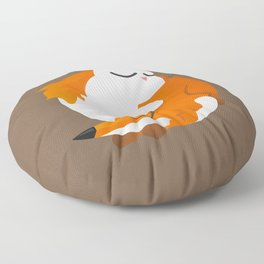 Fox and cat Floor Pillow