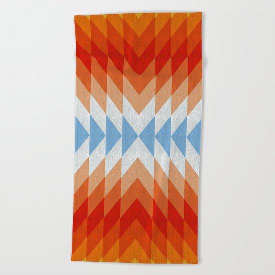 Minimalist orange and red Beach Towel