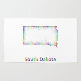 Rainbow South Dakota map Rug