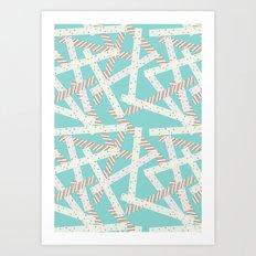 Washi [Green] Art Print
