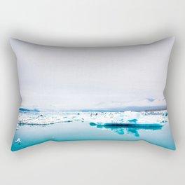 reflections of ice Rectangular Pillow