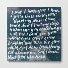 Hillsong - Closer Than You Know | Photo Credit: Kinsey Bates   Metal Print