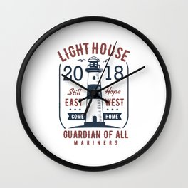 light house guardiam of all mariners Wall Clock