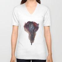 vagina V-neck T-shirts featuring Ashley Lane's Vagina No.2 by Nipples of Venus