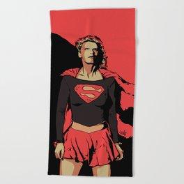 Girl of Steel Beach Towel