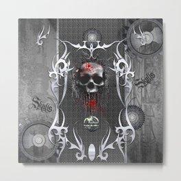 The creepy skull Metal Print