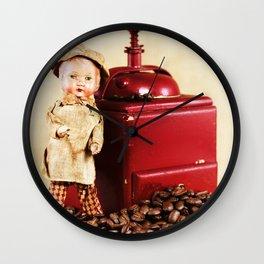 Coffee man 3 Wall Clock